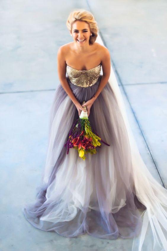 Vestido de novia ombré