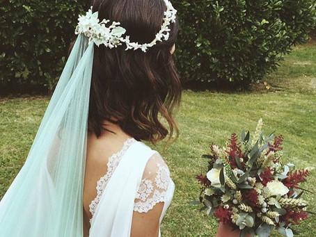 Un toque de color a tu velo de novia