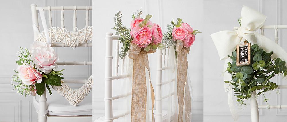 decoracion sillas boda