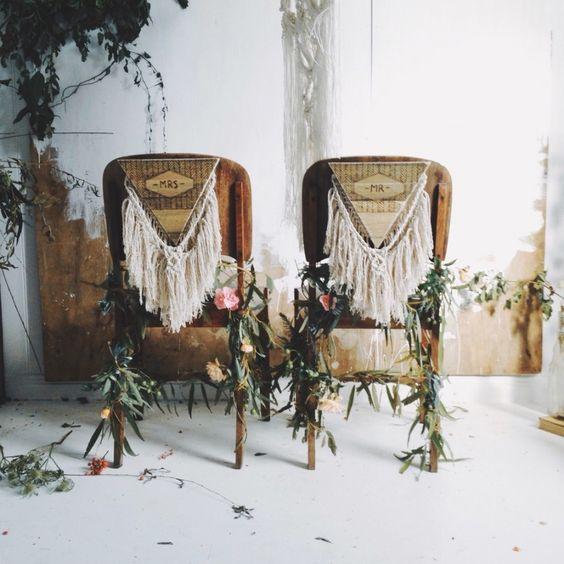 Macramé para matrimonios boho