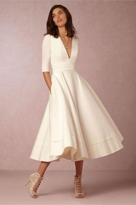Vestidos de novia largo midi