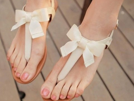 Sandalias planas para novias