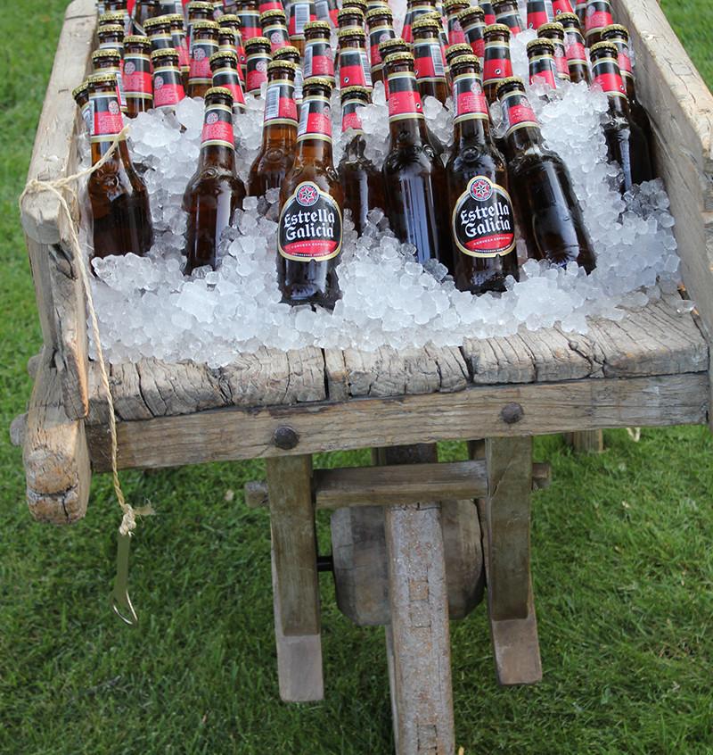 Decorar con cervezas