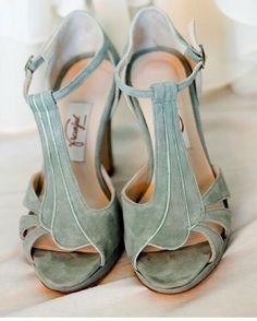 Zapatos de terciopelo Novias