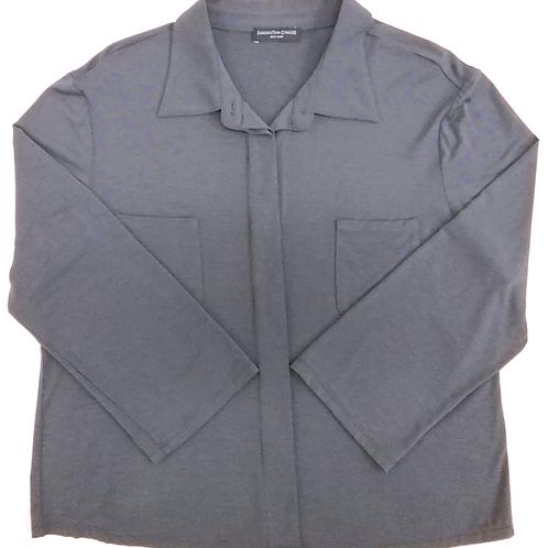 Samantha Chang Pajama Shirt in Slate