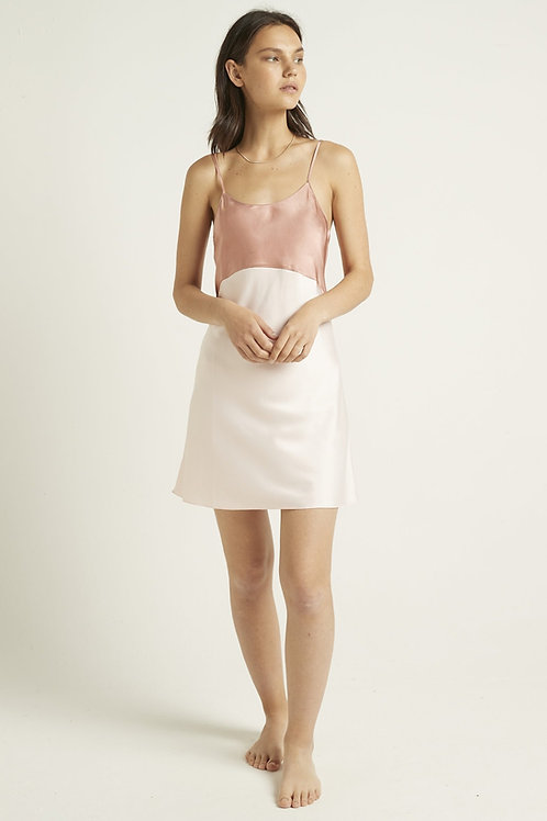 Ginia Camille Chemise in Cloud Pink