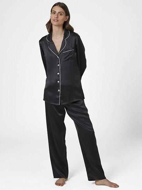 Ginia Silk Pyjama With Contrast Piping