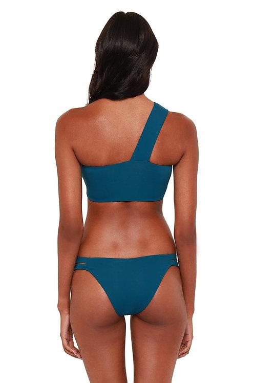 Bromelia Jeanette Bikini Swim Bottom in Sea Floor Green