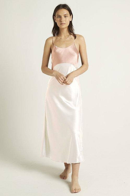 Ginia Camille Silk & Poly Nite in Rose Pink
