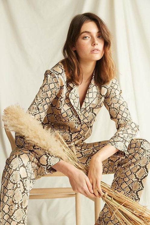 Ginia Silk Fine Finishes Pajama Set in Python Print