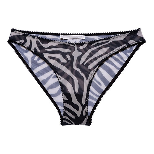 Underprotection Rania Bikini Brief in Zebra Print