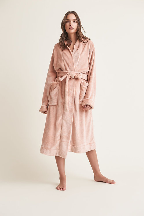 Skin Winna Robe with Scunchie in Pink