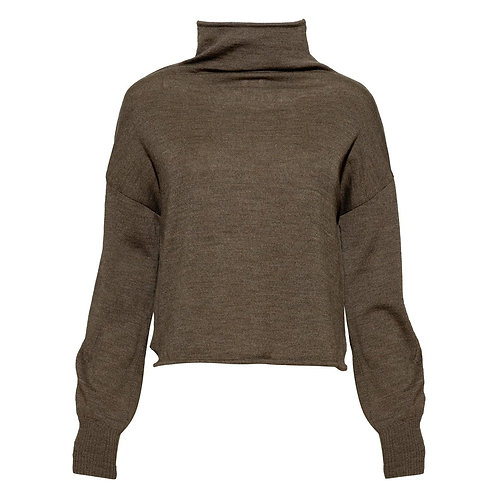 Underprotection Kirsty Merino Wool Sweater in Warm Taupe
