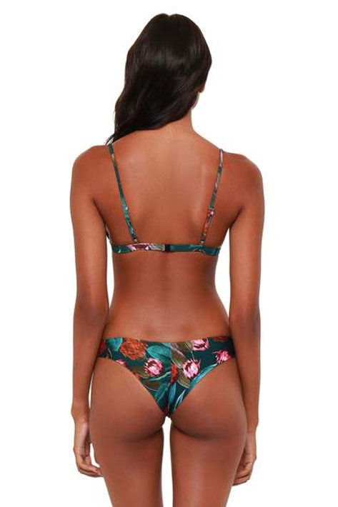 Bromelia Valentina Bikini Swim Bottom in Artichoke Print
