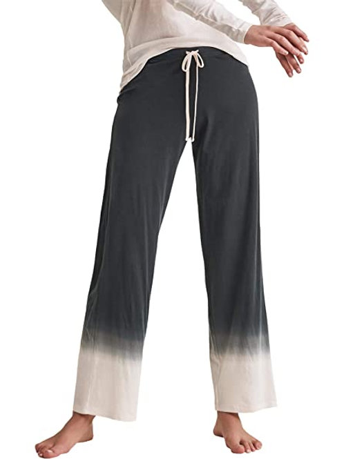 Skin Organic Cotton Pima Ombre Pants in Black