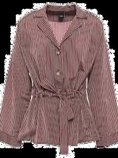 Else Dixie Cotton Pajama Shirt with Tie Waist