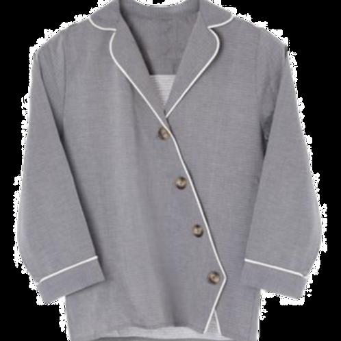 Else Victoria Asymmetrical Placket Pajama Shirt