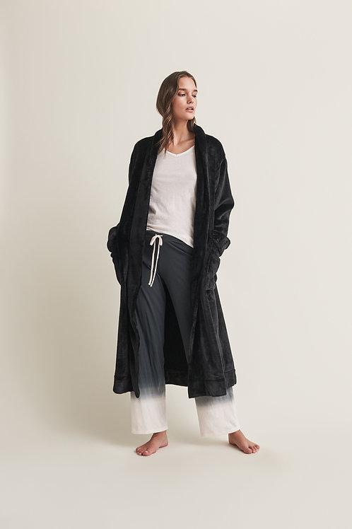 Skin Winna Robe with Scunchie in Black