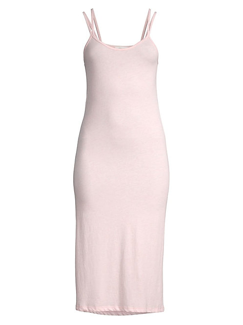 Skin Calyn Double Strap Chemise in Heather Pink