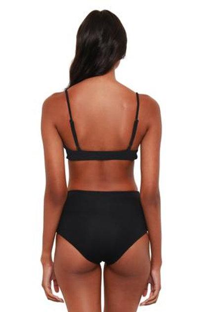 Bromelia Vivianne High-Waisted Swim Bottom in Black Trio Print
