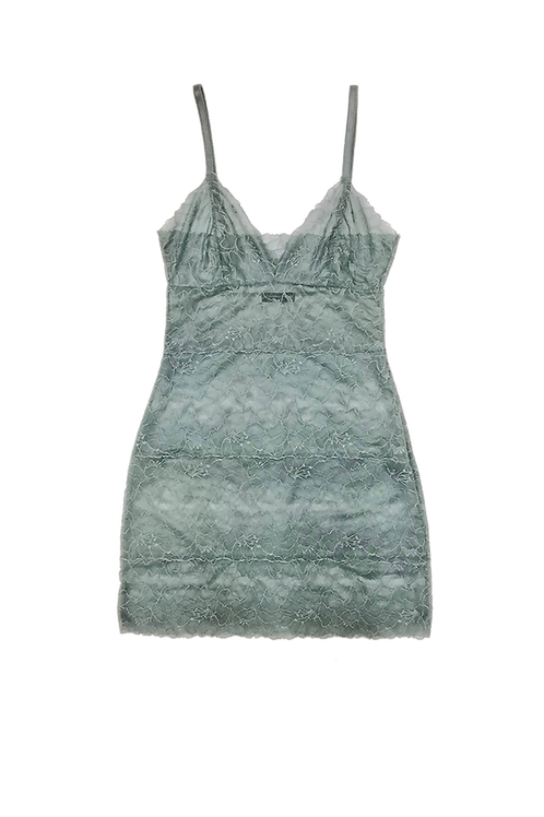 Samantha Chang All Lace Glamour Full Slip in Waterfall