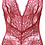 Thumbnail: Samantha Chang All Lace Boudoir Deep Plunge Halter Bodysuit in Scarlet