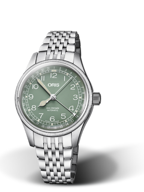 ORIS BIG CROWN POINTER DATE 36mm green dial bracelet
