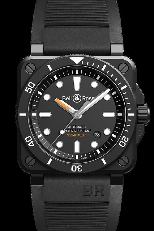 BR 03-92 DIVER BLACK MATTE Ref: BR0392-D-BL-CE/SRB