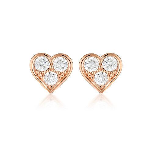 Georgini Cupid Earring Rose Gold