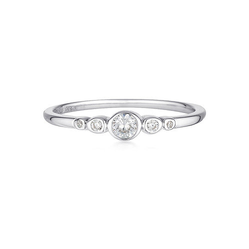 Georgini Silver Penta Ring