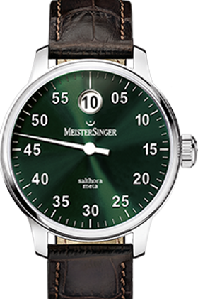 MeisterSinger Salthora Meta (Jumping Hour) Sunburst Green