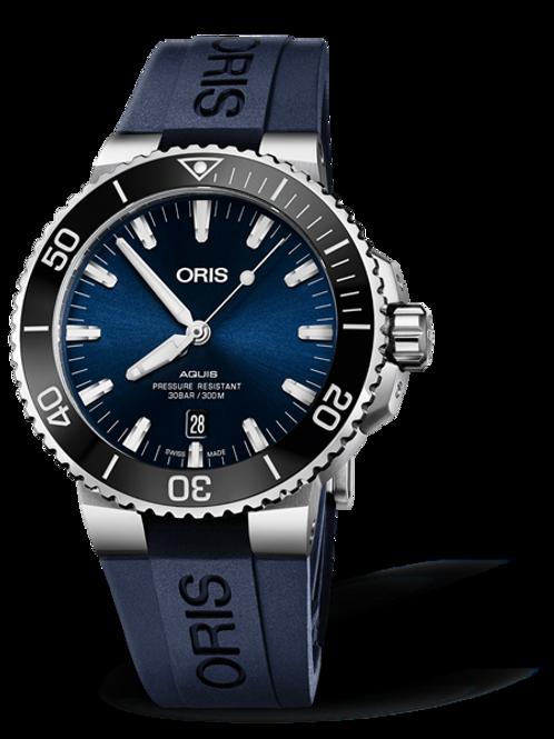 Oris Aquis Date (Blue dial Blue Rubber strap)
