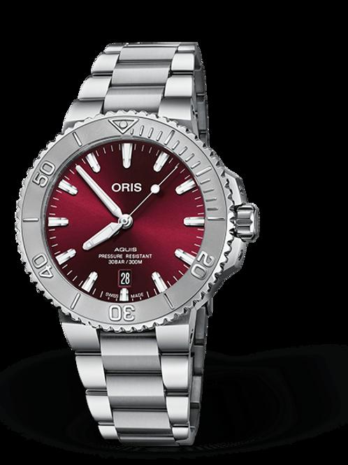 ORIS AQUIS DATE cherry