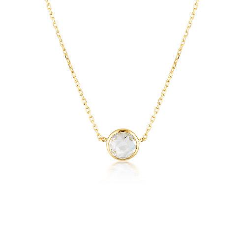 Georgini Lucent White Topaz Gold Necklace