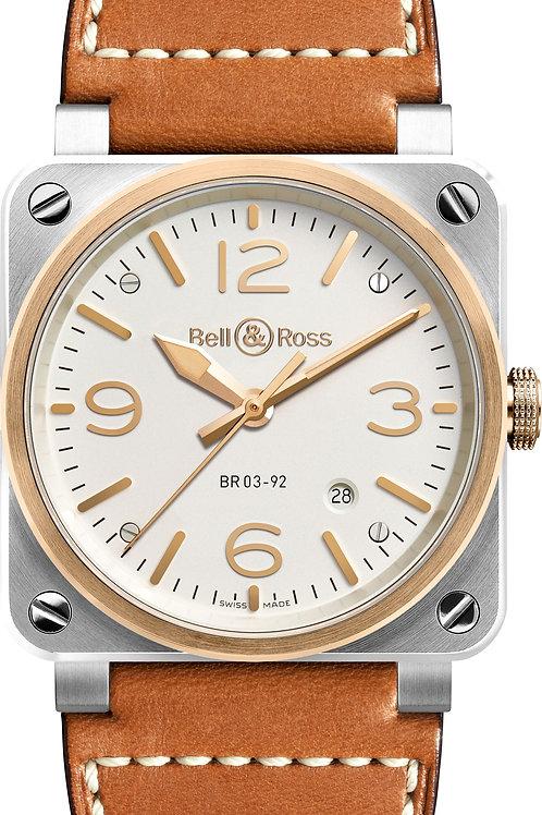 BR 03-92 STEEL & ROSE GOLD Ref: BR0392-ST-PG/SCA