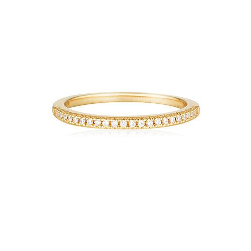 GEORGINI ICONIC BRIDAL ANNE BAND GOLD
