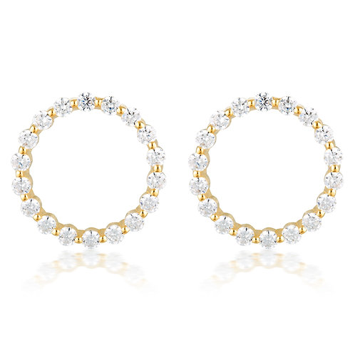 Large Circle Of Life Earring - Gold