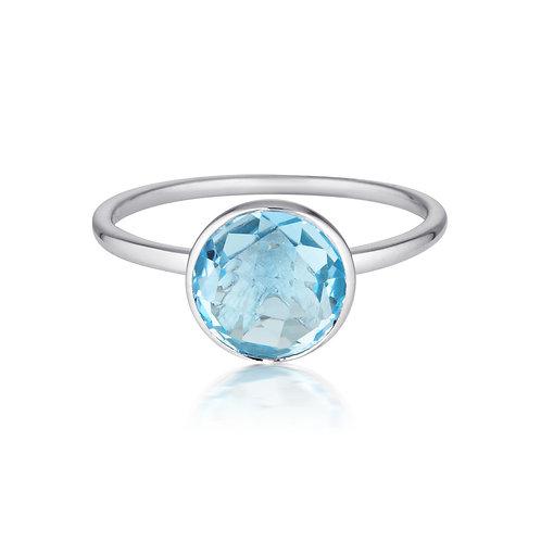 Georgini Rodos Blue Topaz Silver Ring