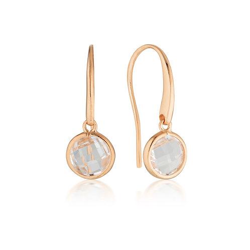 Georgini Lucent Rose Gold Hook Earrings Small
