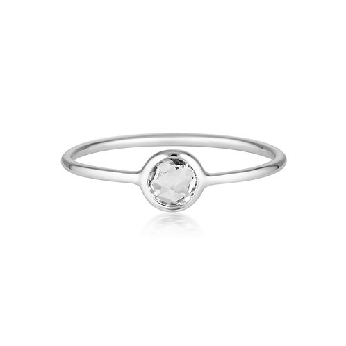 Georgini Eos White Topaz Silver Ring