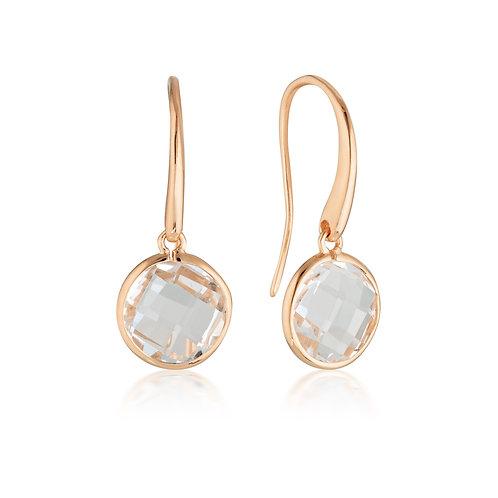 Georgini Lucent Rose Gold Hook Earring - Large