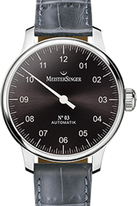 MeisterSinger No.03 AM907 Sunburst Anthracite