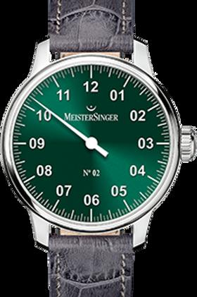 MeisterSinger No.02 AM6609N Sunburst Green