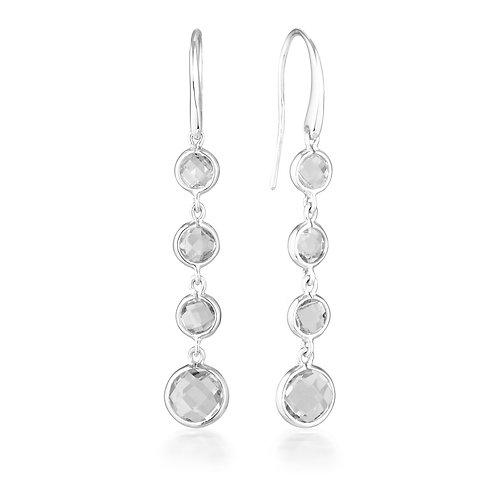 Georgini Helios Silver Drop Earrings