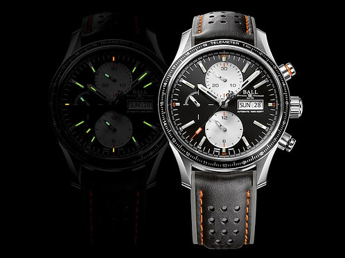 Ball Fireman Storm Chaser Pro Black leather strap