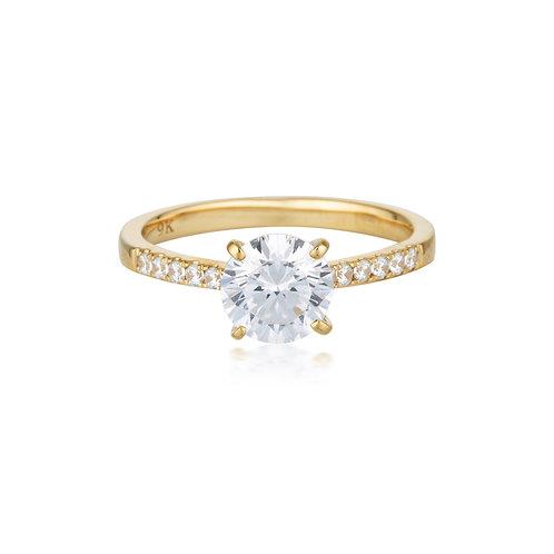 Georgini Gold Round Brilliant Cut 1.25ct Engagement Ring in Gold