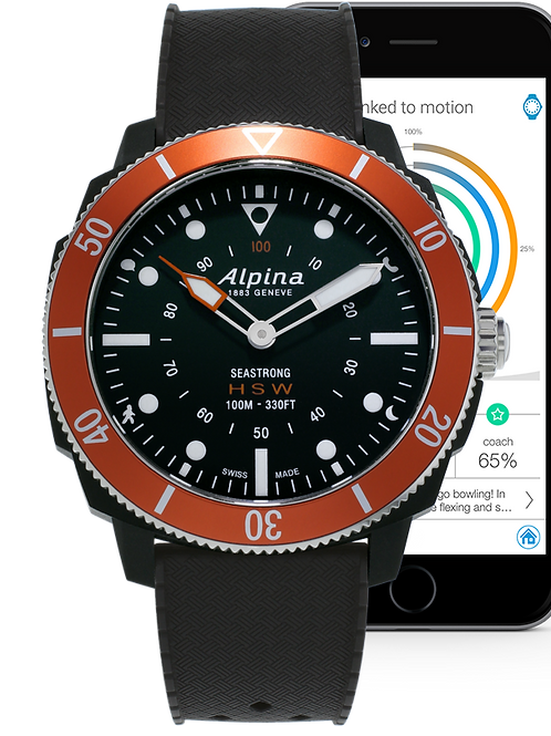 Alpina Seastrong Horological Smartwatch Ref. AL-282LBO4V6