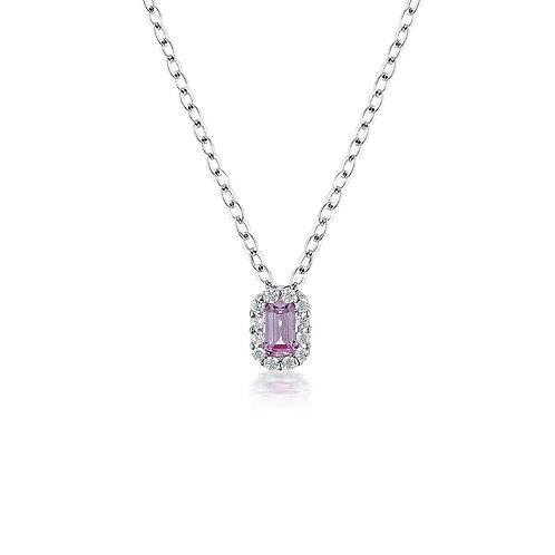 Georgini Pink Sapphire Paris Pendant