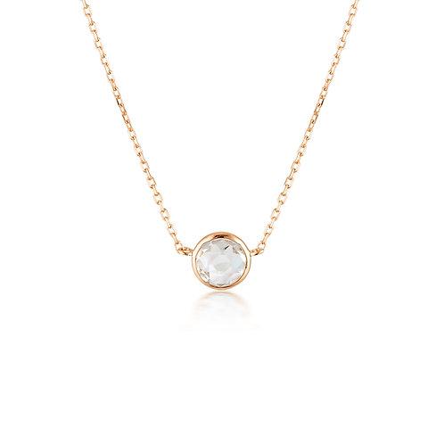 Georgini Lucent White Topaz Rose Gold Necklace