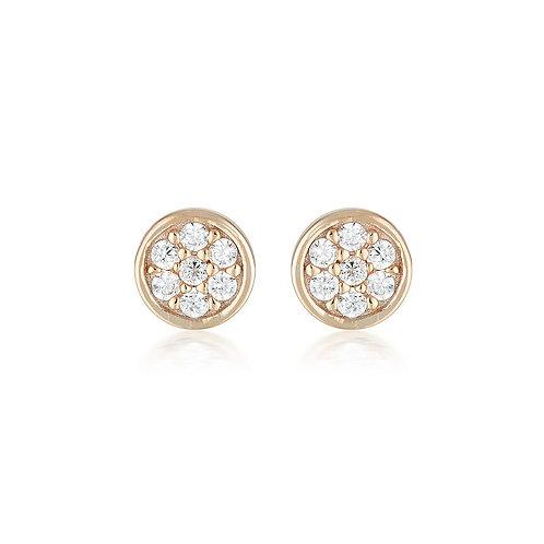 Georgini Rose Gold Dotti Stud Earring